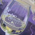 Bluestone Vineyard Wineglass by Donna Tuten
