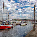 Boat - Baltimore Md - One Fine Day In Baltimore  by Mike Savad