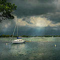 Boat - Canandaigua Ny - Tranquility Before The Storm by Mike Savad