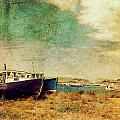 Boat Dreams on a Hill Print by Tracy Munson