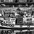 Boat Reflections In Valparaiso by John Rizzuto