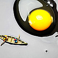Boating Around Egg Little People On Food by Paul Ge