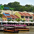 Boats At Clarke Quay Singapore River by Imran Ahmed