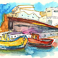 Boats In Ericeira In Portugal by Miki De Goodaboom