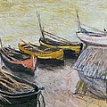 Boats On The Beach by Claude Monet