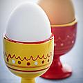 Boiled Eggs In Cups by Elena Elisseeva