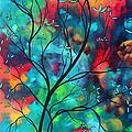 Bold Rich Colorful Landscape Painting Original Art Colored Inspiration By Madart by Megan Duncanson