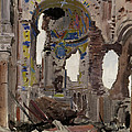 Bombed Out Interior Of Albert Church by Ernest Proctor