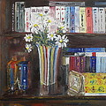 Bookworm Bookshelf Still Life