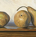 Bosc Pears by Lucie Bilodeau
