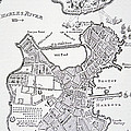 Boston And Bunker Hill 1781 by American School