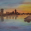 Boston Charles River At Sunset  by Donna Walsh