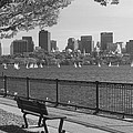 Boston Charles River Black And White  by John Burk