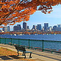 Boston Charles River In Autumn by John Burk