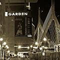 Boston Garder And Side Street by John McGraw