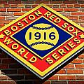 Boston Red Sox 1916 World Champions by Stephen Stookey