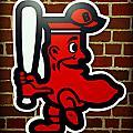 Boston Red Sox 1950s Logo by Stephen Stookey