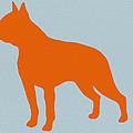 Boston Terrier Orange Print by Naxart Studio