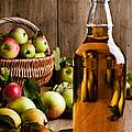 Bottled Cider With Apples by Amanda Elwell