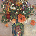 Bouquet of Flowers in a Vase Print by Odilon Redon