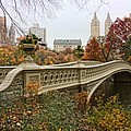 Bow Bridge In Central Park by June Marie Sobrito