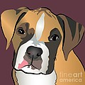 Boxer Puppy Pet Portrait  by Robyn Saunders