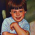 Boy In Blue Shirt by Kenneth Cobb