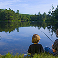 Boys Fishing by Diane Diederich