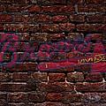 Braves Baseball Graffiti On Brick  by Movie Poster Prints