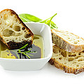 Bread Olive Oil And Vinegar by Elena Elisseeva
