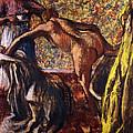Breakfast After The Bath Le Petit Dejeuner Apres Le Bain by Edgar Degas