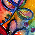 Bright Abstract Flowers by Linda Woods