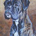 Brindle Boxer Poster by Lee Ann Shepard