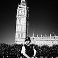 british metropolitan police office guarding the houses of parliament London England UK by Joe Fox