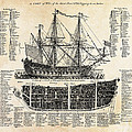 BRITISH SHIPS of WAR  1728 Poster by Daniel Hagerman