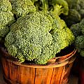 Broccoli In Baskets by Teri Virbickis