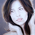 Brown Haired And Lightly Freckled Beauty by Jim Fitzpatrick
