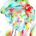 Bruce Springsteen Watercolor Portrait by Fabrizio Cassetta