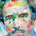 Bruce Springsteen Watercolor Portrait.1 by Fabrizio Cassetta