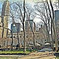 Bryant Park Library Gardens by Tony Ambrosio
