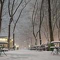 Bryant Park - Winter Snow Wonderland - by Vivienne Gucwa