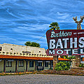 Buckhorn Baths Motel Print by Brian Lambert