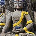 Buddha Figure In Kathmandu Nepal by Robert Preston