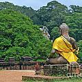 Buddha Statue Wearing A Yellow Sash by Sami Sarkis