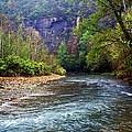 Buffalo River Downstream by Marty Koch
