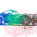 Bugatti Atlantic Watercolor 1 Print by Naxart Studio