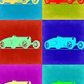 Bugatti Type 35 R Pop Art 2 Print by Naxart Studio