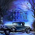 Buick 1930 Print by Andrzej Szczerski
