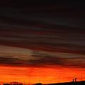 Burning Night Time Sky by John Telfer