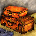 Business Man - Packed Suitcases by Mike Savad